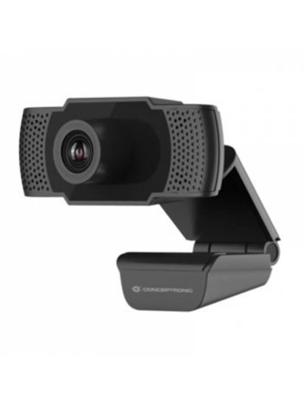 CAMARA WEB CONCEPTRONIC AMDIS  FHD 1080P 30FPS + MICRO NEGRO