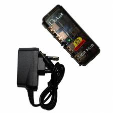 HUB 4 PTOS USB 2.0 L-LINK CON  ADAPTADOR DE CORRIENTE